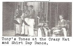 Tony'S Tones at Porter Jr. High School With Rick Coonce (Later With The Grass Roots) On Drums