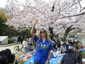 NAOMI WITH CHERRY BLOSSOMS